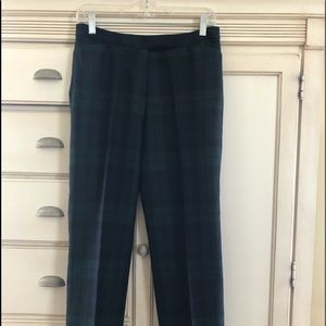 Black Watch plaid wool pants